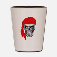 Red Skull Shot Glass