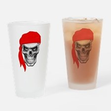 Red Skull Drinking Glass
