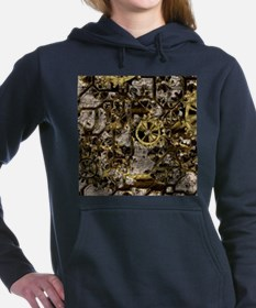 Metal Steampunk Women's Hooded Sweatshirt