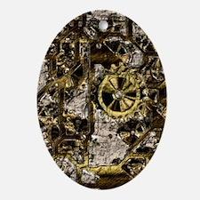 Metal Steampunk Ornament (Oval)