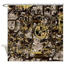 Metal Steampunk Shower Curtain