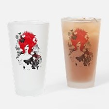 Red Hairs Drinking Glass