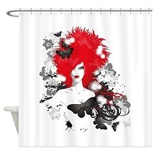 Red Hairs Shower Curtain