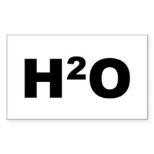 H2O Rectangle Decal