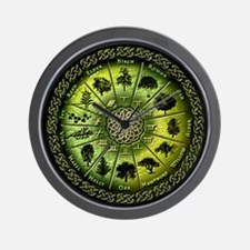 Druid Tree Calendar Wall Clock