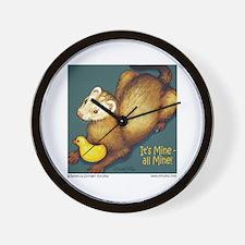 Ferret & Rubber Ducky Wall Clock