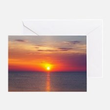 Unique Red sunrise Greeting Card