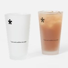 Asterisk (dark on light) Drinking Glass