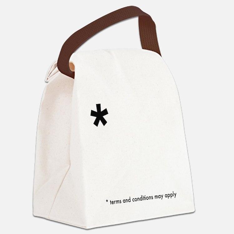 Asterisk (dark on light) Canvas Lunch Bag