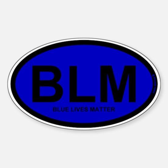 BLM Blue Lives Matter Sticker (Oval)