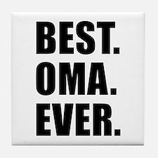 Best Ever Oma Drinkware Tile Coaster