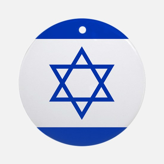 Flag Of Israel Ornament (Round)