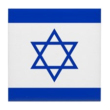 Flag Of Israel Tile Coaster