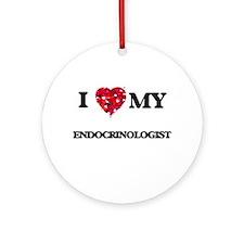 I love my Endocrinologist hearts Ornament (Round)