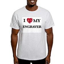 I love my Engraver hearts design T-Shirt
