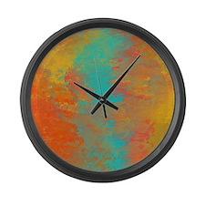 The Aqua River Large Wall Clock
