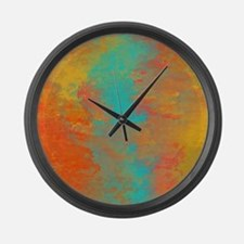 The Aqua River Large Wall Clock