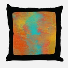 The Aqua River Throw Pillow