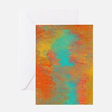 The Aqua River Greeting Card