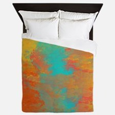 The Aqua River Queen Duvet