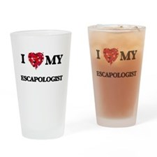 I love my Escapologist hearts desig Drinking Glass