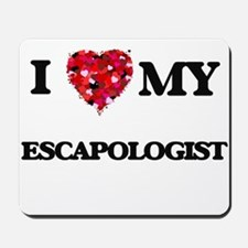 I love my Escapologist hearts design Mousepad
