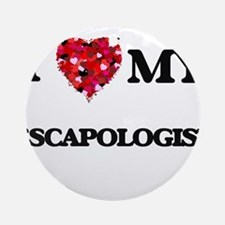 I love my Escapologist hearts des Ornament (Round)