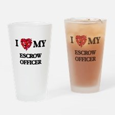 I love my Escrow Officer hearts des Drinking Glass