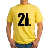 21st birthday Mens Classic Yellow T-Shirts