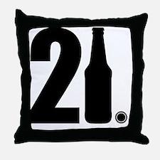21 beer bottle Throw Pillow