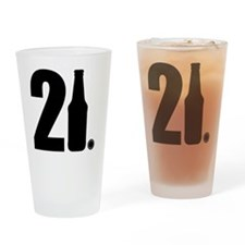 21 beer bottle Drinking Glass