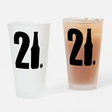 21 beer bottle Drinking Glass