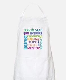 Teacher subway art Apron