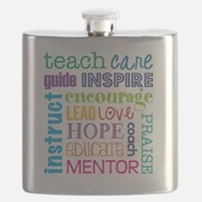 Teacher subway art Flask