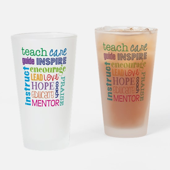 Teacher subway art Drinking Glass