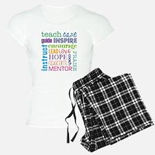 Teacher subway art pajamas