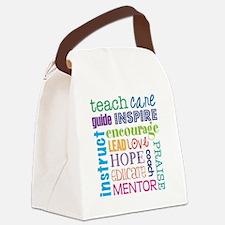 Teacher subway art Canvas Lunch Bag