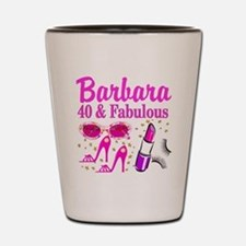 40TH PARTY GIRL Shot Glass