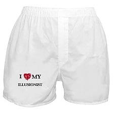 I love my Illusionist hearts design Boxer Shorts