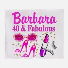 40TH PARTY GIRL Throw Blanket