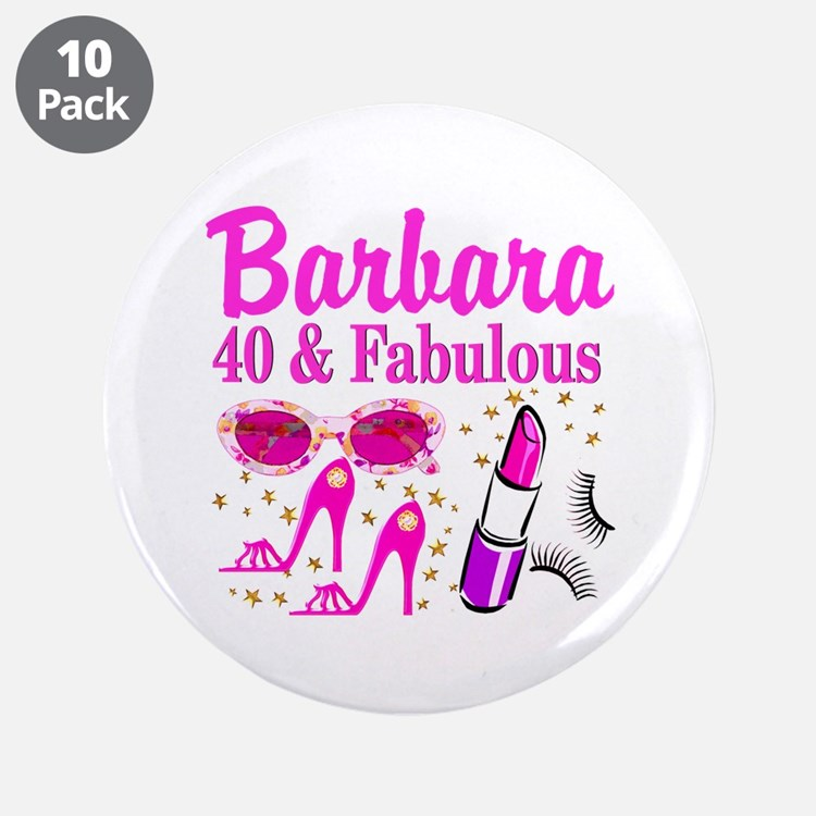 "40TH PARTY GIRL 3.5"" Button (10 pack)"