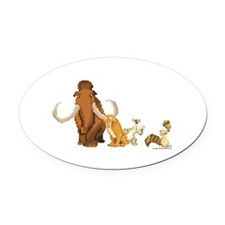 Ice Age 8-Bit Group Oval Car Magnet