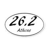 Athens marathon Oval Car Magnets