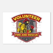 Fire and Rescue Volunteer Postcards (Package of 8)