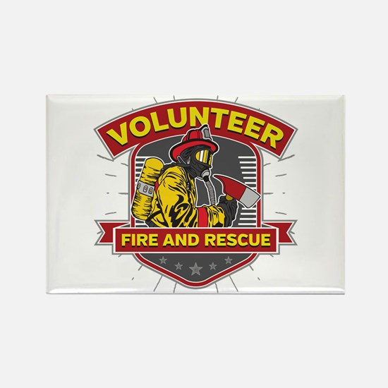 Fire and Rescue Volunteer Rectangle Magnet
