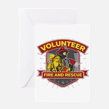 Fire and Rescue Volunteer Greeting Card