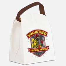 Fire and Rescue Volunteer Canvas Lunch Bag