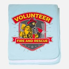Fire and Rescue Volunteer baby blanket