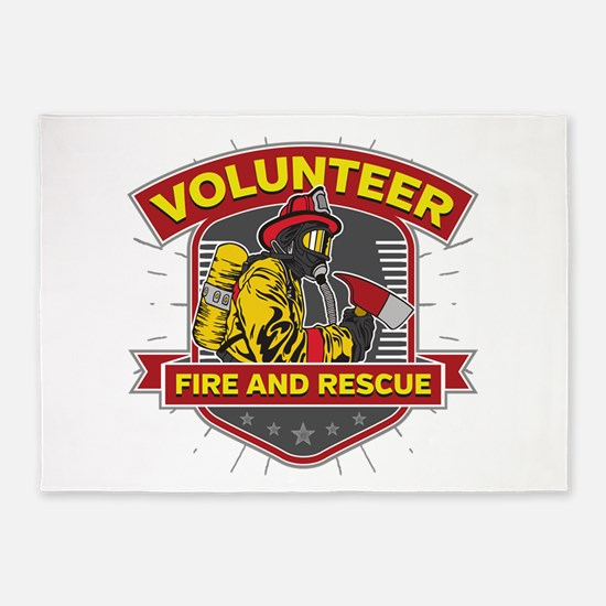 Fire and Rescue Volunteer 5'x7'Area Rug