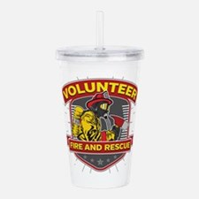 Fire and Rescue Volunt Acrylic Double-wall Tumbler